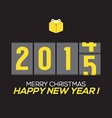 2015 New Year Card Odometer Style vector image