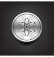 Molecule icon on silver button vector image