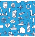Pirate tattoo seamless pattern vector image