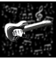 electric guitar on background music vector image vector image