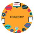 Development emblem vector image