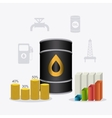 Petroleum and oil industric infographic vector image