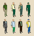infographic man sketch elements vector image vector image