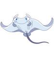 cartoon cramp fish vector image