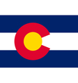 Coloradan state flag vector image