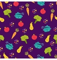 Cute food characters seamless pattern vector image