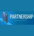 isometric partnership banner vector image