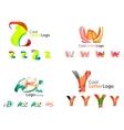 Letter business emblem collection vector image