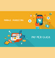 mobile marketing and pay per click vector image