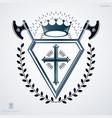 retro vintage design element heraldic royal vector image