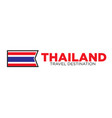 thailand travel destination sign vector image