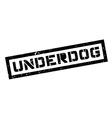 Underdog rubber stamp vector image