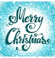 Christmas background with sparkles vector image