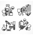 Set of medicines symbols vector image