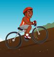 black bicyclist riding vector image vector image