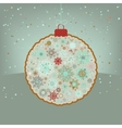 Christmas retro color simple blue card EPS 8 vector image vector image