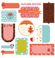 Tags - Autumn Set vector image vector image