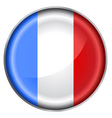 France flag button vector image vector image