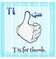 Thumb vector image vector image