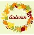 Autumnal frame with colorful leaves and herbs vector image vector image