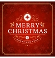 Merry Christmas greeting card lights and vector image vector image