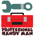 Professional Handy Man vector image