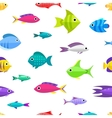 Cartoon fish collection seamless pattern vector image