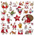 christmas characters cartoons vector image