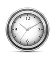 Chrome office clock vector image