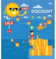 Discount infographics vector image