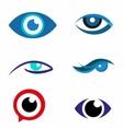 Eye logo icon download vector image