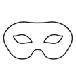 Isolated mask of carnival design vector image