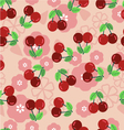Pattern with a cherry - vector image