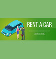 rent a car banner vector image