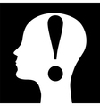 silhouette of a man head vector image