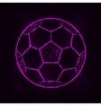 Soccer ball silhouette of lights vector image