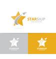Star and rocket logo combination leader vector image