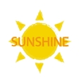 Sun with sunshine sign vector image