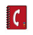 telephone address book vector image