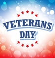Veterans Day USA banner on celebration background vector image