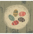 Vintage easter eggs vector image