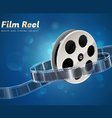 film reel movie cinema object vector image