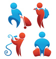 travel people collection of human symbols vector image vector image