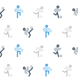 Blue black soccer team pattern and background vector image