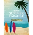 Holiday travel surfing print vector image