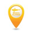 shark icon yellow pointer vector image