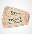 vintage tickets vector image vector image