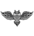 Owl in tribal style for mascot or tattoo vector image vector image