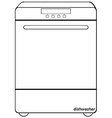 Dishwasher vector image