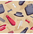 male accessories seamless pattern vector image